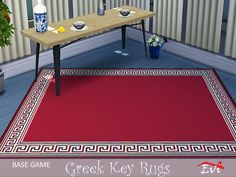 Classical summer rugs decorated with the Greek key Found in TSR Category 'Sims 4 Rug Recolors' The Ea, Sims Community, Sims Resource, Electronic Art, Greek Key, Ping Pong Table, Rugs, Home Decor, Farmhouse Rugs