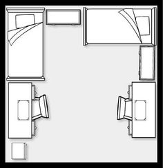 Dorm room layout 14x14