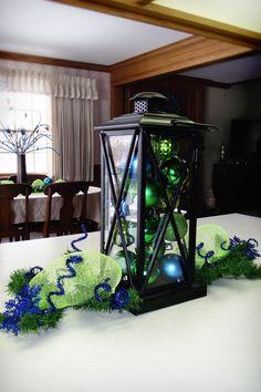 Table Center Piece - Jacobs Family Blog: Peacock Christmas