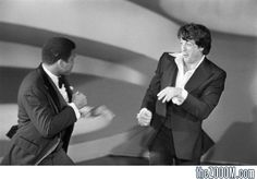 Sylvester Stallone and Muhammad Ali Fight