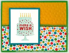 Party Wishes Cherry On Top Birthday- Dena Lenneman, Stampin' Up! Demonstrator