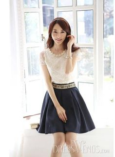 Stunning Korean Pure Color All-matched Middle-Waist Skirt