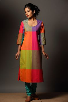 Mazhavillu` Kaithari Kurta - love love love the colors