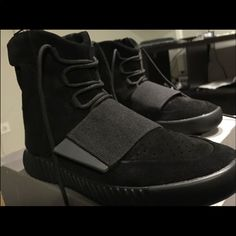 2db9532a1e1ef Shop Men s Yeezy Black size 10 Sneakers at a discounted price at Poshmark.  Description  All black Yeezy Boost Sold by yaboyyoungin.