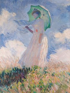 """Monet. """"Woman with a Parasol"""" 1886."""