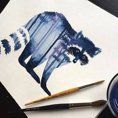 Raccoon Watercolor