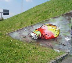 Insect by @feik_frasao #globalstreetart #italy #insect globalstreetart.c...