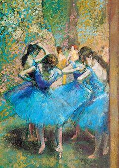 Edgar Degas błękitne baletnice