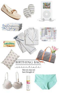 Hospital Birthing Bag Essentials #hospital #bag #birthing #maternity