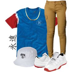 Untitled #85 by dope-goddess on Polyvore featuring polyvore fashion style Stussy HUF