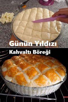 Yummy Snacks, Snack Recipes, Dessert Recipes, Desserts, Bread Dough Recipe, Bread Machine Recipes, Bakery Recipes, Breakfast Items, Turkish Recipes