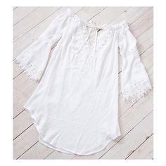 Nicks Off the Shoulder White Dress. Shop @ Little-lies.com