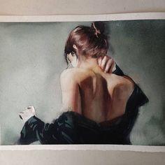 Les aquarelles douces et sensuelles de Marcos Beccari (image)