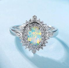 Cheap fine jewelry, Buy Quality jewelry women rings directly from China jewelry rings Suppliers: Angel Girl 925 Sterling Silver Opal Rings Female Oval Classic Anniversary Women Ring Fine Jewelry New On Sale Vintage Engagement Rings, Vintage Rings, Fire Opal Engagement Ring, Black Opal Ring, Silver Opal Ring, Topaz Ring, Expensive Rings, Opals, Ring Designs