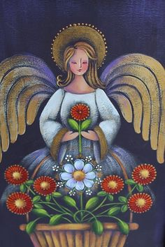 Rosemary West, Religion, Angel Images, Scandinavian Folk Art, Art Friend, Mosaic Crafts, Primitive Folk Art, Arte Popular, Angel Art