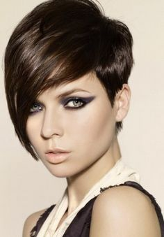 Short Trendy Brunette Bob Hairstyle