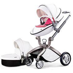Caliente mamá ® Carrito 2016, 3en 1bebé sistema de viaje Cochecito con cuna blanco rosa rosa  #niños