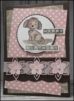 Super cute card made with the Stampin Up Stamp Set Bella and Friends.