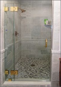 Frameless Shower Door-Inline Shower Door