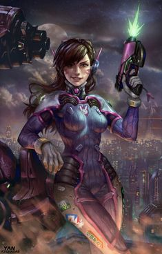 "pixalry: ""  D.Va: Ready for Combat - Created by Yan Kyohara  """