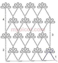 Newest No Cost irish Crochet shawl Ideas Tina Handwerk: 31 Stich Fantasie – Crochet Diagram, Crochet Chart, Crochet Motif, Crochet Flowers, Crochet Lace, Free Crochet, Crochet Basics, Crochet Stitches Patterns, Stitch Patterns
