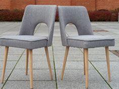 """Krzesło """"muszelka"""" szara w kategorii VINTAGE"""