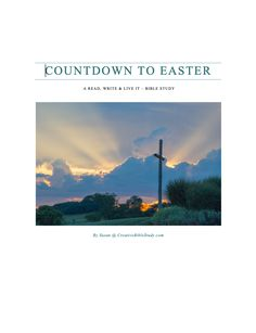 Countdown to Easter Bible Study Lessons - Interactive fun for families, small groups or on your own! Exodus 12, Lords Supper, Bible Study Lessons, True Vine, You Are Blessed, Small Groups, Holy Spirit, Sunday School, Easter Ideas