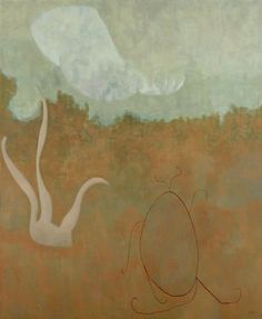 "William Baziotes ""Red Landscape"" (1957) oil on canvas."