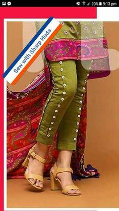 Trendy Fashion Design Tips Skirts Ideas Fashion Pants, Diy Fashion, Trendy Fashion, Fashion Design, Fashion Dresses, Pakistani Dresses Casual, Pakistani Dress Design, Salwar Designs, Blouse Designs