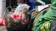 United States Air Force emergency responders train with United Kingdom military and civilian counterparts during Exercise Diamond Dragon 2015 to prepare for real-world emergencies.
