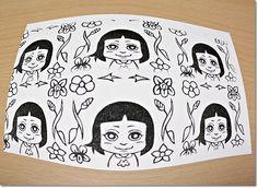 花とチャムズシリーズ*スミレとサキはんこ♪の巻 flowers and chumz violet and Saki