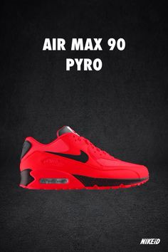 """Nike Air Max 90 iD """"Pyro"""" designed by Niclacoste #nike #airmax90 #jordan Nike Shoes Outlet, Nike Shoes For Sale, Nike Shoes Cheap, Nike Outfits, Air Max Sneakers, Sneakers Nike, Adidas Shoes, Air Max 90, Nike Air Max"""