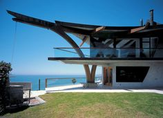 The Orlando Aliberti House, known as Eagles Watch, Malibu, designed in 1955 by Harry Gesner, was destroyed in the 1993 fires and rebuilt by Gesner in 1997.