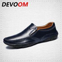 DEVOOM Мокасин Мужчины Мокасины Gommino Learther Обувь Марка Летняя Мода Высокое Качество Натуральная Кожа Обувь Мужчин Лодка Повседневная обувь