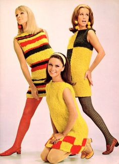Mod fashion was made popular by the mods, a group of young people in Britain. Women wore colorful miniskirts and granny dresses. 1960s Mod Fashion, Seventies Fashion, Retro Fashion, Vintage Fashion, Womens Fashion, Fashion Vest, Ad Fashion, Dress Fashion, Moda Vintage