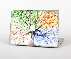 The WaterColor Vivid Tree Skin for the Apple MacBook Air - Pro or Pro with…