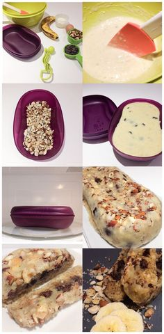 Banana bread in the Tupperware Breakfast maker Caroline Schoofs Ma vie en Tu Yummy Tupperware Pressure Cooker Recipes, Tupperware Recipes, Microwave Recipes, Tupperware Bowls, Tupperware Breakfast Maker Recipe, Microwave Breakfast, Omelette Meister, Dessert Bread, Dessert Recipes