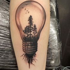 Image result for lightbulb TATTOO
