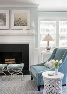 #LivingRoom    Love this light blue.....it is soooo calming and restful
