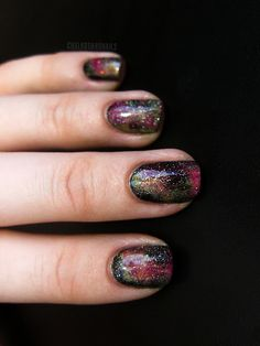 Galaxy Nails, prettiest set I've seen yet!