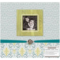 <div>Display your favorite photographs and special treasures in this beautiful scrapbook with a ...