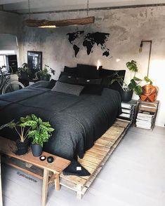 Master Bedroom Decorating Ideas Modern Bedroom Sets Home Modern Bedroom Design, Home Interior Design, Contemporary Bedroom, Modern Contemporary, Ikea Interior, Girl Bedroom Designs, Country Interior, Bedroom Styles, Modern Room