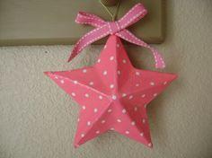 star Hand decoupaged ornament