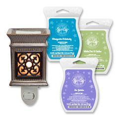 Paquete Class Act 1 calentador y 3 deliciosas fragancias ¡Oferta de tiempo limitado! Contáctame (999) 3051329 airscents.scentsy.com.mx