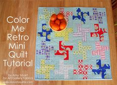 Free quilt pattern: Color Me Retro quilt by Amy Smart - there are some other cute free patterns here as well