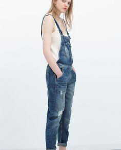 Image 2 of DENIM DUNGAREES from Zara