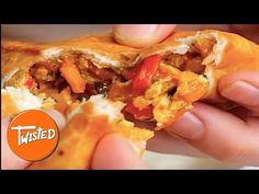 Chicken Fajita Triangles | Twisted - YouTube