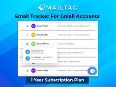 Email Tracker For Gmail Accounts - 1 Year Plan By MailTag Business Marketing, Email Marketing, All Coupons, Insurance Agency, Free Email, Accounting, Campaign, Advertising, Join