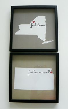 Custom State Map  FRAMED Print  Home is Where by DefineDesign11, $39.00