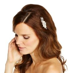 Jon Richard Pearl and navette flower hair comb- at Debenhams.com